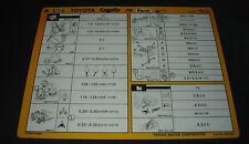 Inspektionsblatt Toyota Corolla Diesel CE 70 Werkstatt Service Blatt 10/1984