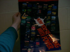 Now You're Playing With Power Nintendo Power - Original 1990 Poster Insert Promo
