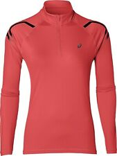 Asics Icon Half Zip Long Sleeve Womens Running Top - Pink