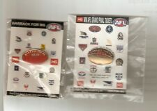 Barrack for MS AFL Badges (red and Yellow) on Card With Stickers
