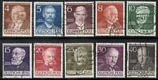 Germany Berlin 1952-53 Famous Berliners  SG.B91/B100 Used  SG.Cat:£65+