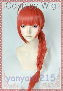 Gintama Kagura mother JiangHua Cosplay Wig braid AHOGE Party Hair+Free cap No.