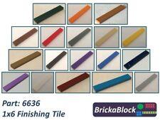 NEW & GENUINE Lego Part 6636 1x6 Flat Tile (Choose 1,2,4,6,8 or 10)