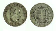 pcc1834_10) Regno Vittorio Emanuele II - 1 lira stemma 1863 Mi