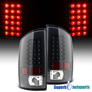 For 2002-2006 Dodge Ram 1500 2500 3500 LED Tail Lights Brake Lamp Black