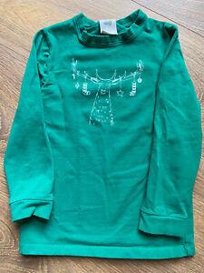 Boys Green holiday Christmas Moose Tee shirt size small 5