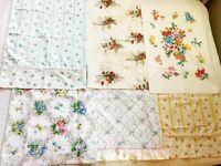 6 Vtg PILLOW CASES 70s 80s Floral Standard Sz SPRINGMAID Pepperell Sears Penneys