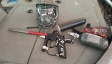 Planet Eclipse Ego 9 Paintball Marker Gun Paint Ball 4500 PSI tank Tippman Mask
