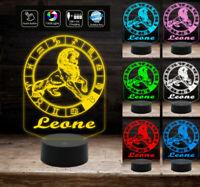 Lampada a led 7 colori selezionabili SEGNO ZODIACALE LEONE Idea regalo personali