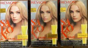 (3) Revlon Salon Color 9A Light Champagne Blonde Color Booster Kit For Week 3&6