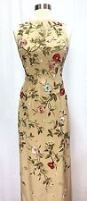 Oscar De La Renta Sleeveless Floral Gown Size 0