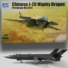 TRUMPETER 1/72 J-20 MIGHTY DRAGON CHINESE 5TH GEN STEALTH FIGHTER