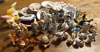 Lot of 42 Japan Vintage Figurines, Plates & Box. Porcelain 2WW. Collectable
