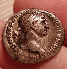 Römische Münze Kaiser Trajan Denar Fortuna