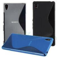 Custodia cover WAVE per Sony Xperia Z5 case aderente TPU gel flessibile nuova