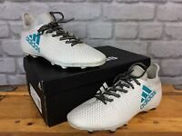 ADIDAS UK 5 1/2 EU 38 2/3 FG X WHITE BLUE GREY TURF FOOTBALL BOOTS CHILDRENS