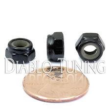 M5-0.8 / 5mm - Qty 10 - Nylon Insert Hex Lock Nut DIN 985 - Class 8 Steel Blk Ox