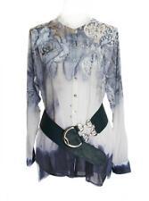 Geometrische Lockre Sitzende Hüftlang Damenblusen,-Tops & -Shirts ohne Mehrstückpackung