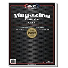 "1 Pack of 100 BCW 8 1/2"" Magazine Backing Backer Boards"