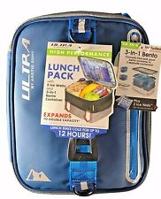 Arctic Zone Ultra High Performance Lunch Pack 2 Ice Walls & 3 in 1 Bento - Blue