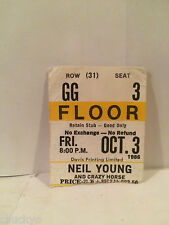 Neil Young Concert Ticket Stub 10-3-1986 Toronto Maple Leaf Gardens - Rare