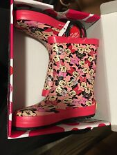 Minnie Mouse Girls Rain Boots Size 11/12