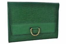 229d552a5c26 Authentic Louis Vuitton Epi Iena 28 Clutch Bag Green LV 71499