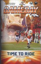 2013-14 NFL AFC PLAYOFFS CHARGERS @ DENVER BRONCOS FOOTBALL PROGRAM