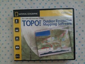 NATIONAL GEOGRAPHIC TOPO OUTDOOR RECREATION MAPPING SOFTWARE CALIFORNIA V 4.2...