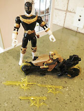 "Gold Power Rangers LOT 1996 BANDAI 8"" Figure & Motor Cycle w/Figure 971/12502"