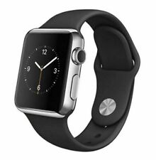 Reloj de Apple serie 2 38mm Caja de acero inoxidable-Banda Negra Sport