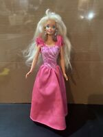 1976 Mattel Twist N Turn Barbie Doll Rooted Long Hair Pink Dress