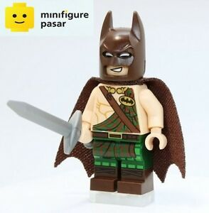 sh304 The Lego Batman Movie Super Heroes - Tartan Batman Minifigure w Sword New