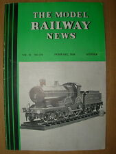 VINTAGE MODEL RAILWAY NEWS CLOCKWORK - STEAM - ELECTRIC No 170 FEBRUARY 1939