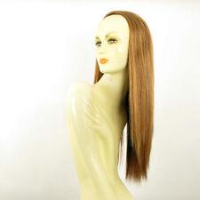 Demi-tête, demi-perruque lisse 60cm blond foncé cuivré ref 014 en g27