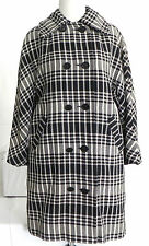 Vtg. Sherbrooke Coat  All Weather Fashions, Size M, Double Breasted, Blk and Wht