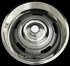 "4 Chevy GM Rally Wheel Disc Brake Center Hub Caps AND 15"" Trim Rings Beauty Rims"