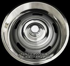 "4 Chevy GM Rally Wheel Disc Brake Center Hub Caps AND 15"" Trim Rings Beauty Rims"