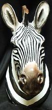 "BOTSWANA Hanging   Zebra Head    Statue Figurine  H16.5"" x L8.3"" x W8.7"""