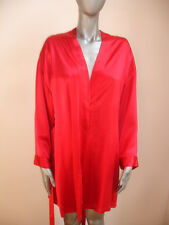 VINTAGE VICTORIA SECRET NIGHT GOWN ROBE size XS / S RED 100% SILK STUNNING