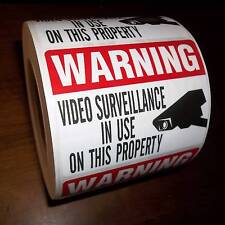 WATERPROOF SECURITY CAMERA WARNING STICKER DECAL SIGNS