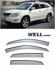 For 04-09 Lexus RX-Series WellVisors Side Window Defectors Visors W/ Black Trim
