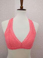 9b10d409dc5c1b Victoria s Secret Coral Pink Lace V Neck Bralette Racerback Size Small