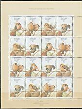 PORTUGAL-1989-Mini Sheet n.8-WILDLIFE BIRD ESTRELINHA-4X4 stamps-1873/6 MUNDIFIL
