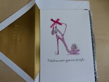 Signature Hallmark greeting card -Happy birthday to fabulous you-pink high heels