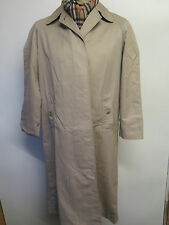 Genuine Burberry Prorsum Brown Cotton Raincoat Coat Mac Size UK 10 R Euro 38