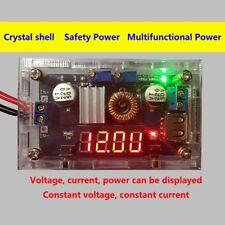 5A 75W DC DC Step down Converter Spannungswandler mit LED Voltmeter + Case GE