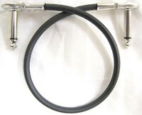 """New Hosa Low Profile Flat Pancake Right Angle 12"""" Patch Cable IRG101 1 Foot"""