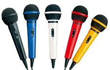 Home Party DJ Karaoke Singing Mic Microphone In 5 Fun Colours