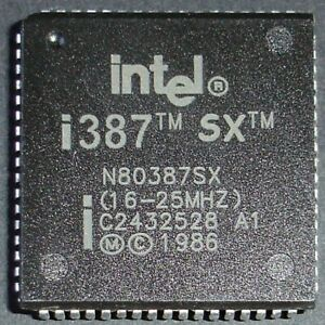 Intel 80387SX 16-25MHz PLCC FPU coprocessor floating point unit for 80386SX